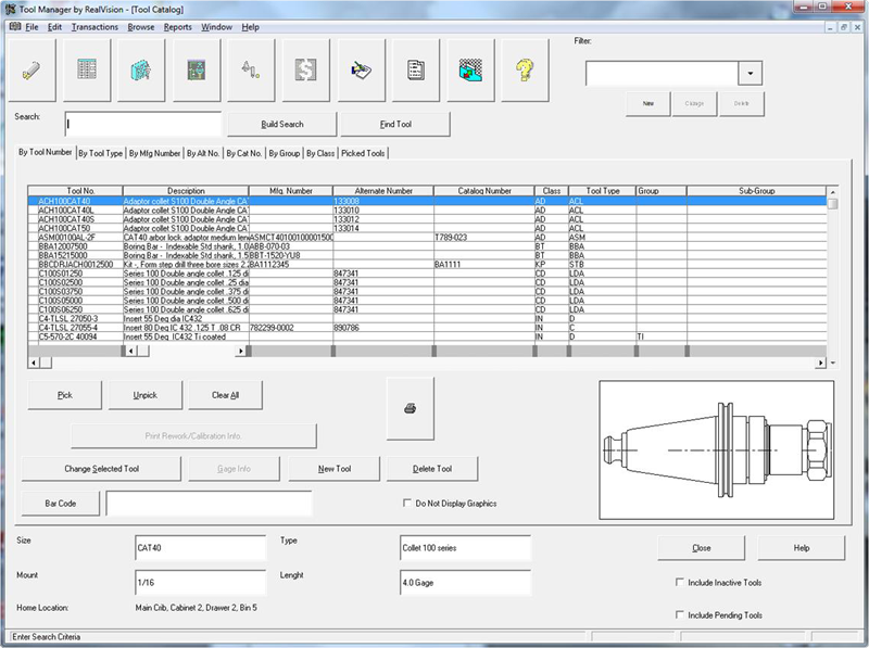 Tool Management Software By Realvision Manufacturing Software By
