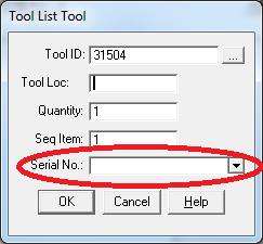 tool list screen for ToolManager tool management system